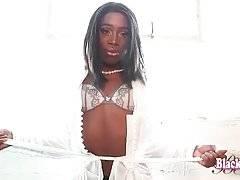Sexy Black TS Epiphany Starts Hot Solo Show 3
