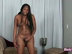 Booty Busty T-Ebony Brownie Rubs Her Dick 3