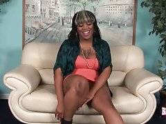 Fleshy Ebony TS Dreamer Strips And Poses For You 1