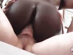 Slutty Black She-Male Jumps On Stiff Dong 3